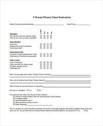 sample class evaluation class evaluation evaluation form sample