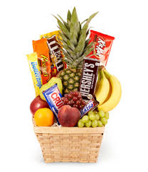 Food Gift Delivery Fresh Fruit And Chocolate Candy Gift Basket U2013 Premium Flowers Delivery