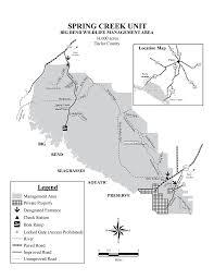 Big Bend Map Spring Creek Unit Big Bend Wma Maplets