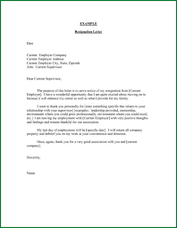6 example of a resignation letter applicationsformat info