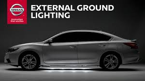 nissan murano interior accent lighting external ground lighting genuine nissan accessories youtube