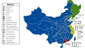 map of china map of china manufacturing distribution
