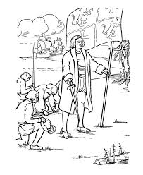 columbus day coloring page sheet us history coloring sheet pages