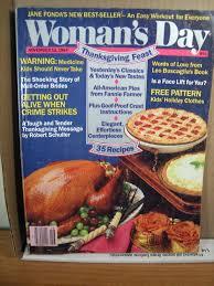 thanksgiving 1994 woman u0027s day magazine november 13 1994 jane fonda thanksgiving