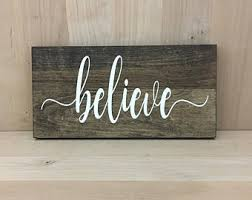 believe home decor wood believe etsy