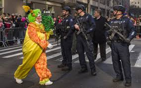 thousands thanksgiving parade with stepped up presence