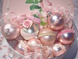 pretty pink ornaments girly pink tree pretty roses lace
