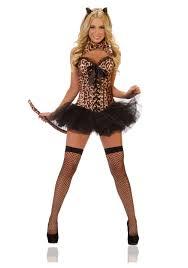 Halloween Cat Costumes Women Deluxe Leopard Costume