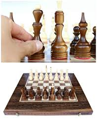 wooden chess set chess board chess pieces handmade wood