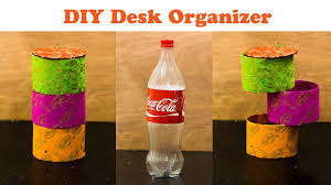 Revolving Desk Organizer by Diy Rotating Desk Organizer From Waste Bottle Youtube