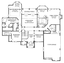 Master Bedroom Plans With Bath Country Style House Plan 4 Beds 3 5 Baths 3667 Sq Ft Plan 952