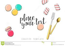 macaroon and marshmallow in sketch conceptual background template