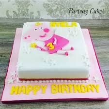 peppa pig cake peppa pig cake fairy theme for a birthday delivered free