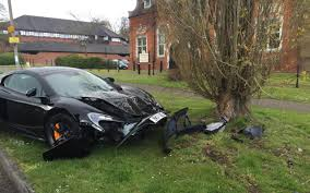 crashed red lamborghini driver crashes new 215 000 mclaren just 10 minutes after taking
