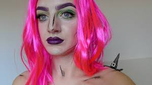simple cartoon witch halloween makeup youtube