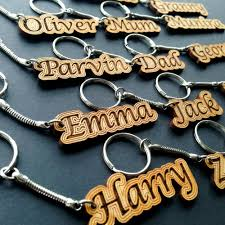 personalized wooden keychains name keychain keyrings ebay