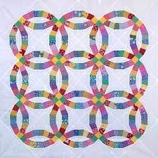 double ring quilt template double wedding ring quilt pattern