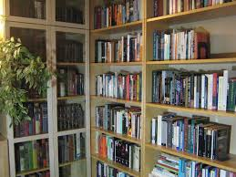 Library Bookcase With Glass Doors by Excellent Home Library Shelving Units Photo Design Inspiration