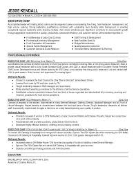 Food Service Job Description Resume by Free Executive Chef Resume Example