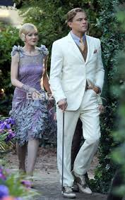Wedding Dress Korean Movie Wholesale The Great Gatsby Movie Beige Groom Tuxedos Men Wedding