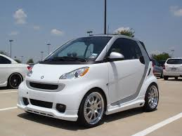 lowered amg smart car on 17