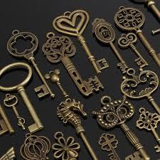 aliexpress vintage necklace images 1 set of 69 antique vintage old look bronze skeleton keys fancy jpg