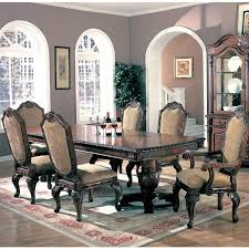 coaster saint charles 8 piece dining set in deep brown 100131 pkg