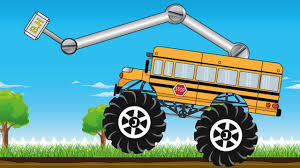 bus monster truck videos monster truck bus save the construction vehicle trucks