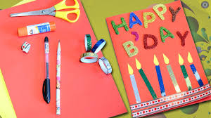 happy birthday greeting card diy birthday card easy craft for