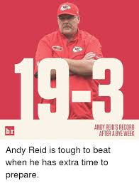 Andy Reid Meme - br andy reid s record after a bye week andy reid is tough to beat