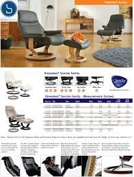 Small Leather Chair And Ottoman Stressless Sunrise Recliners Chairs By Ekornes Recliner Lounger