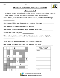4th grade math worksheets reading writing big numbers 3 gif 1 000