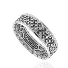 mens wedding band designers tacori white gold sculpted crescent men s wedding band king jewelers