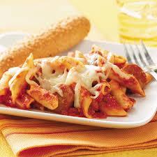 Pasta Sausage Pasta And Sausage Bake Recipe Taste Of Home