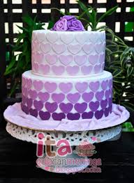 wedding cake sederhana gula dan mentega 2 tiered fondant wedding cake ombre themed