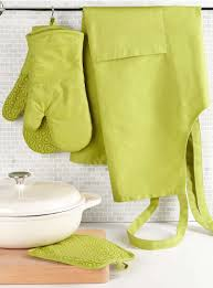 lime green silicone print canvas accessories kitchen green