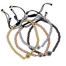 adjustable bead bracelet images Adjustable woven beaded evil eye bracelet greek gift shop jpg