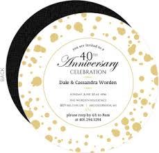 40th anniversary plates cheap 40th anniversary invitations invite shop
