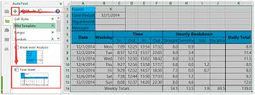 Excel Timesheet Template With Formulas How To Create A Sheet Template In Excel