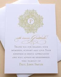 religious thank you cards funeral thank you cards with a classic design custom flat