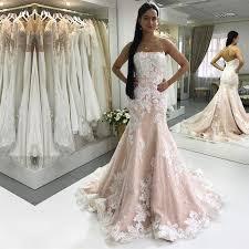 wedding dresses ivory strapless chagne mermaid wedding dresses ivory lace
