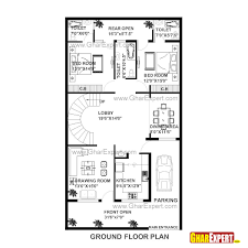house plan for 20 feet by 45 plot size 100 square yards design