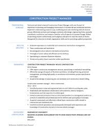 construction project coordinator resume sample construction project manager resume samples templates construction project manager template