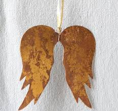 rustic gold wing ornaments set of 4 antique farmhouse