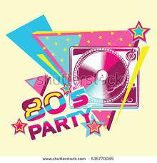 80s retro party poster design stock vector 535770085 shutterstock