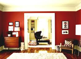 red concrete wall interior living with red lounge paint colors has