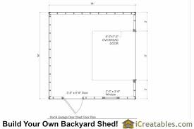 shed floor plans 14x14 garage shed plans icreatables