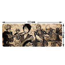 new fashion large mouse pad with cartoon one piece pattern