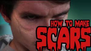 diy halloween makeup tutorial how to make zombie scars cosplay