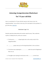 best solutions of english listening comprehension worksheets for